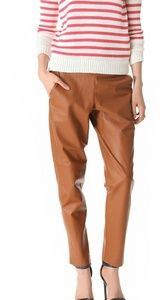<theory> leather jogger pants